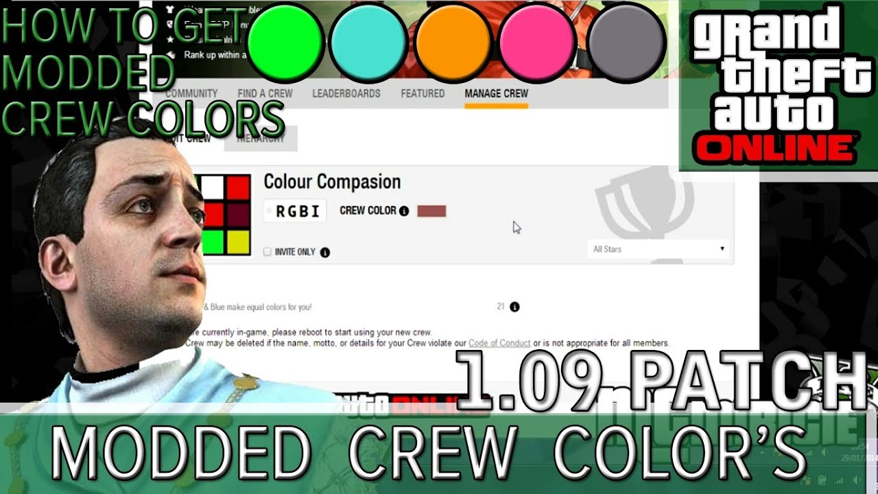 Gta 5 Online Modded Crew Colors Gta 5 Online | How to Get