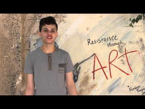 The Freedom Theatre School student Ameer talks about the Freedom Jatha