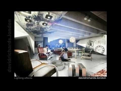 Post-Production Breakdown (Photoshop). London Media Company Interior