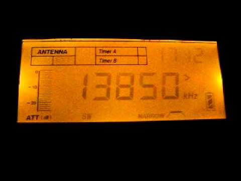 Israel Radio 13850 kHz. 6.11.2011.
