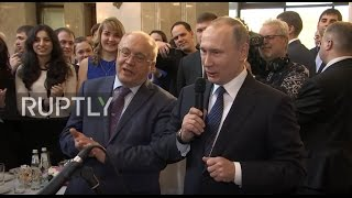 Russia: Putin sings Soviet song about space with Moscow students