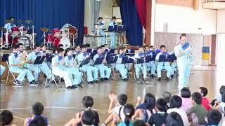 登野城小学校でミュージックパトロール