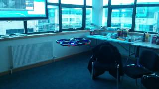 Parrot AR drone at the M247 LAN Party