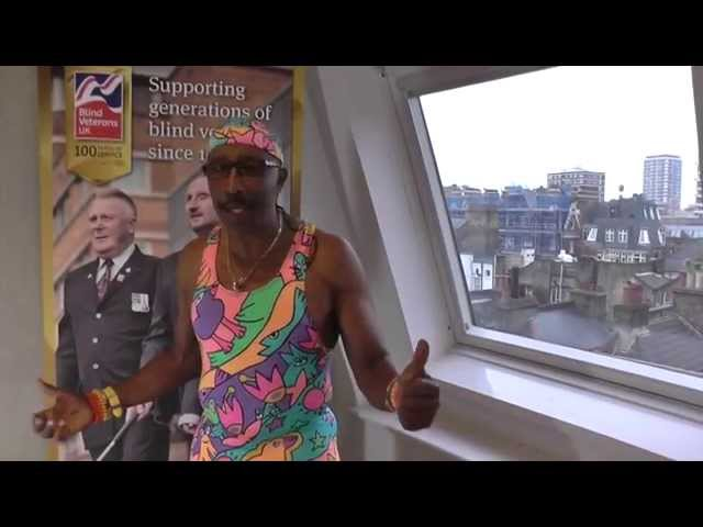 Mr Motivator wishes Blind Veterans UK a happy 100th birthday