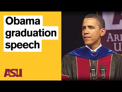 Obama at ASU: Commencement Speech with intro by Michael Crow Video