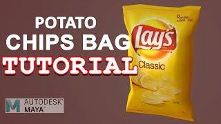 Autodesk Maya 2018 Tutorial - Easy Potato Chips Bag Modeling