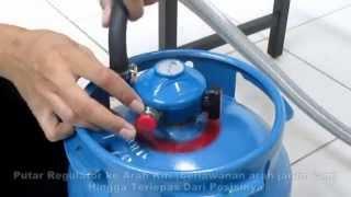 blue gaz - Cara Melepaskan Regulator dari Tabung blue gaz