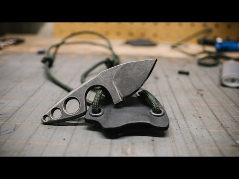 How to Make a Knife - A little neck knife (A Small Sharp Blade)
