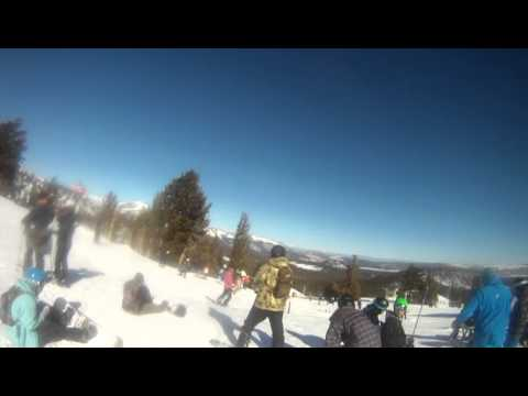 Mammoth Mountain Amateur Go Pro Ski Crash