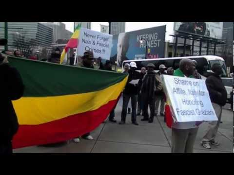 Atlanta Protests Fascist's Crime Against Ethiopia
