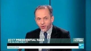 Jew Sarkozy Stealing Marine Le Pen (FN) Clothes
