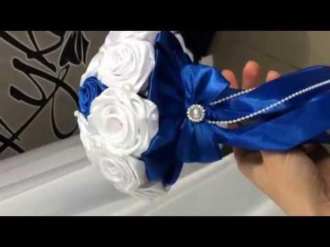 Букет из лент свадебный как сделать