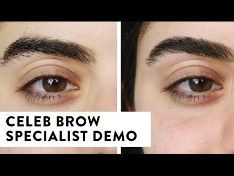 How To Shape Eyebrows - Celebrity Eyebrow Specialist Demo