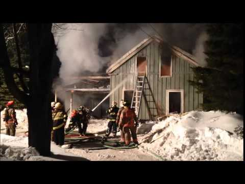 Firefighters Battle Onondaga House Fire