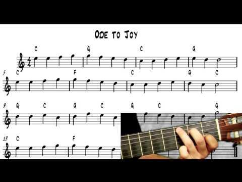 download lagu Learn To Play Guitar - Ode To Joy - Note gratis