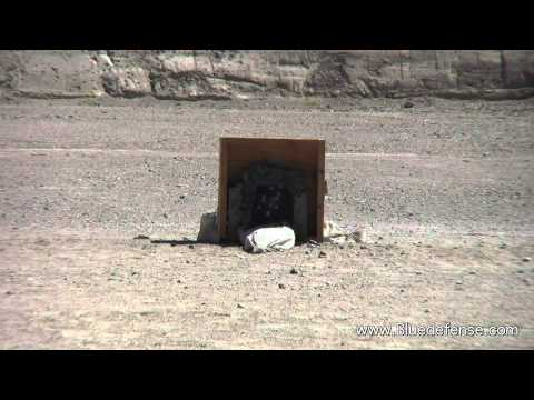 AK47 vs Body Armor Plate - 19 Shots No Penetration to Body Armor Plate