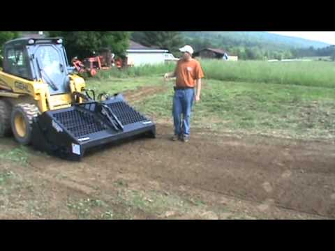 bobcat 6b landscape rake rock hound harley rake for skid steer loader