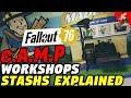 Fallout 76 Camps, Blueprints, Workshops, Stash