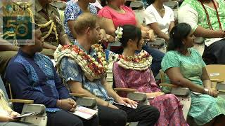 The University of the South Pacific   HRH The Duke and Duchess of Sussex Royal visit to FIJI