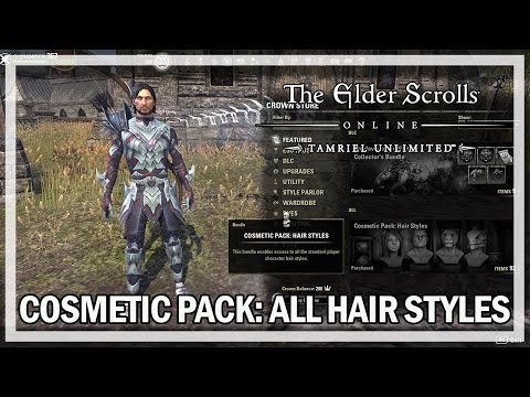 All Cosmetic Pack Hair Styles - The Elder Scrolls Online Review (Xbox One PS4 PC)