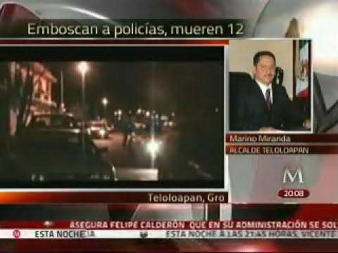 Entrevista telefónica al alcalde de Teloloapan, Guerrero, donde fallecieron 12 policías