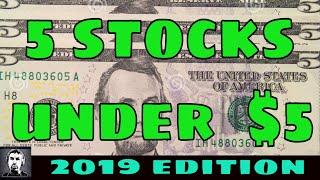5 Best Stocks 📈Under $5 In 2019