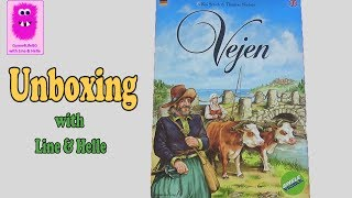 Vejen, Unboxing (In English, board game, Euro game, trading)