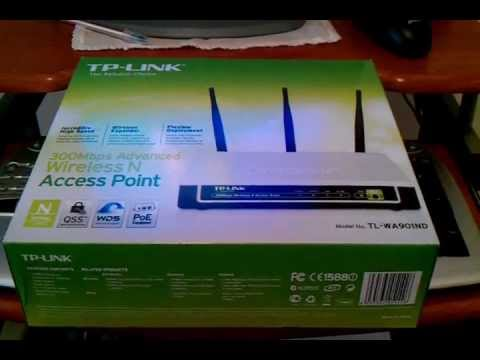 TP-LINK TL-WA901ND 300Mbps  Access Point, repeater setup.