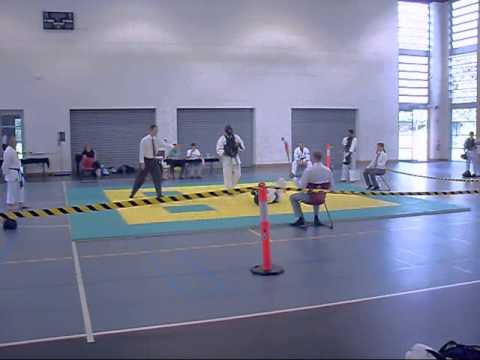 ChitoRyu Karate 2013, Mens Kumite, Open division, Nathan Eley vs Benny Crawford Part 1 Image 1