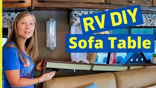 RV Organization and Decoration - Sofa Table in the RV??  Oh, Yes!