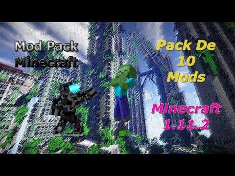 PACK DE MODS MINECRAFT 1.11.2 (PARA PC MALAS 2 Gb RAM) || 10 Mods || ModPack Sin Lag ||