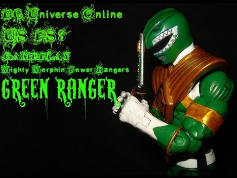 DC Universe Online US PS3 Gameplay Mighty Morphin Power Rangers Green Ranger