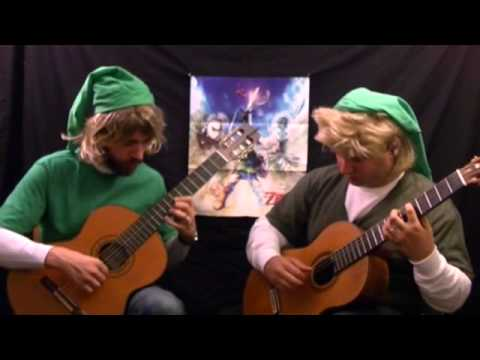 Zelda Skyward Sword Skyloft Theme on Two Guitars