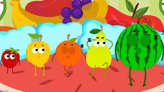 Fruits Five In The Bed Nursery Rhymes | Fruits Song For Kids By Toddlers Toons