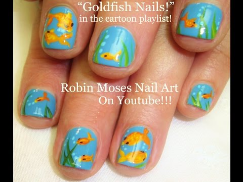 Nail Art For Short Nails! | DIY EASY Goldfish Design Tutorial