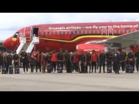 В Шереметьево приземлился самолет сборной Бельгии - Россия 24