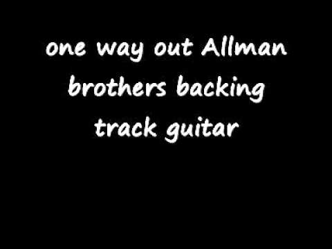 one way out Allman brothers backing track guitar