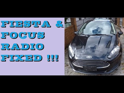 How to remove radio in 2011-2017 Ford Fiesta. Radio fixed!