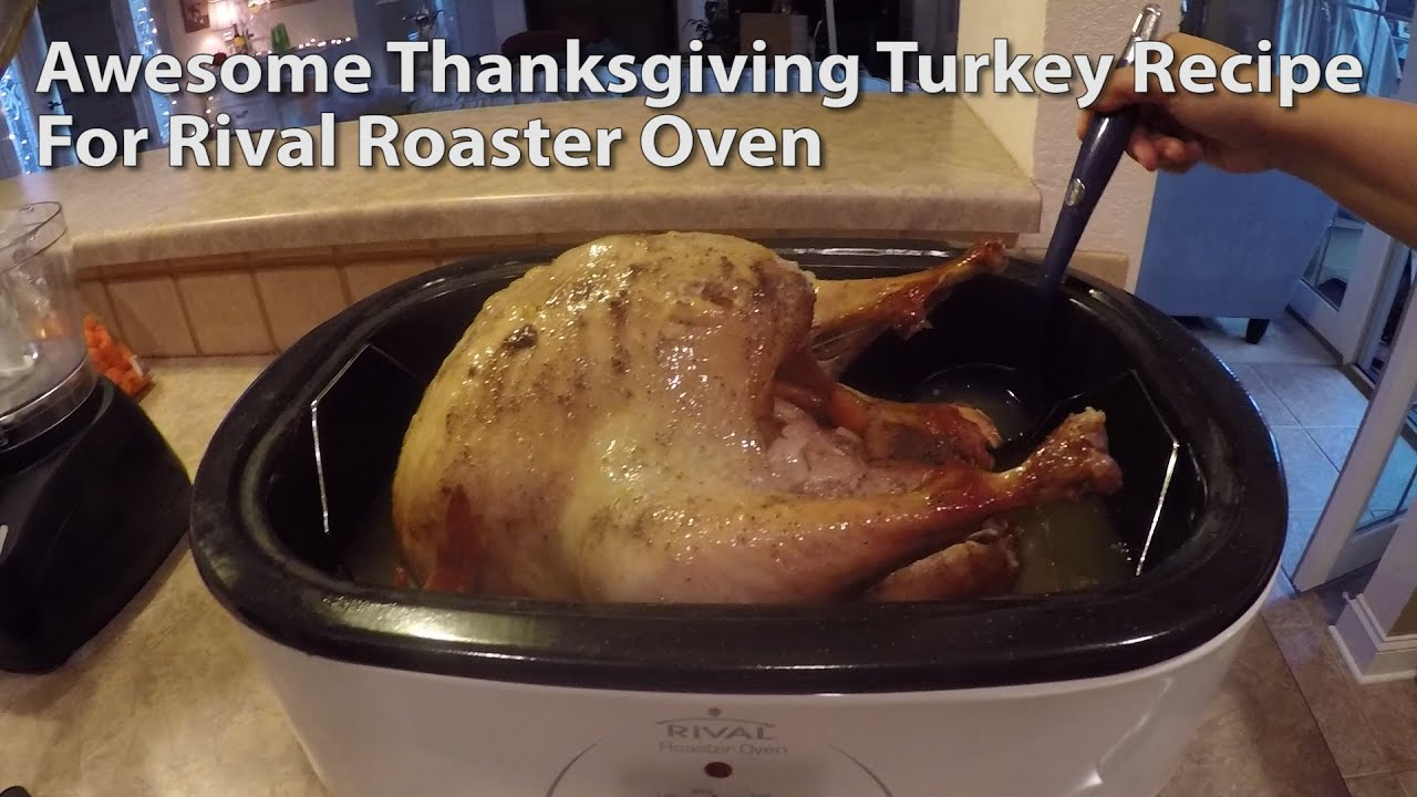 How To Cook A Turkey With A Rival Roaster Oven Youtube