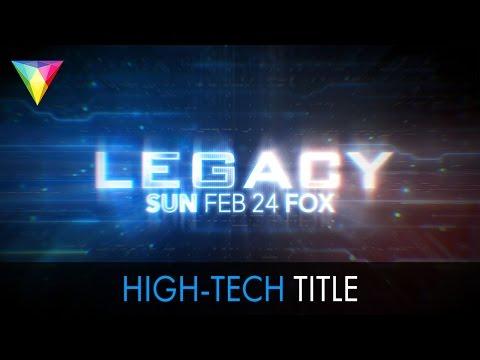 Futuristic Sci-Fi Title Sequence Tutorial + Free Template