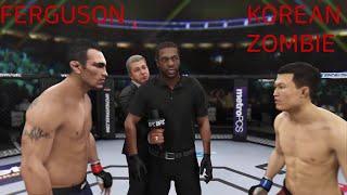 UFC3 토니 퍼거슨 vs 정찬성  Tony Ferguson vs Korean Zombie