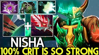 Nisha [Wraith King] 100% Crit Build is So Strong Epic Game 7.21 Dota 2
