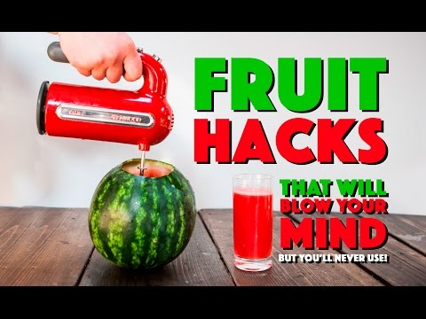 6 Fruit Hacks that'll BLOW YOUR MIND but Never Use!