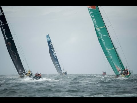 Volvo Ocean Race - Lorient Leg 9 Start Live Replay 2011-12