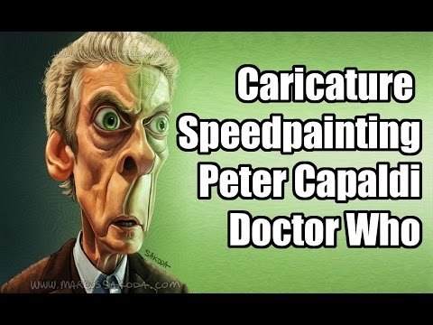 Caricature Speedpainting with Marcus: Peter Capaldi - Doctor Who