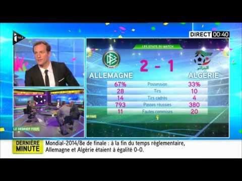 ALGERIE  ALLEMAGNE ☛  analyse aprés match  algerie 1 2 allemagne  sur TELEfrance