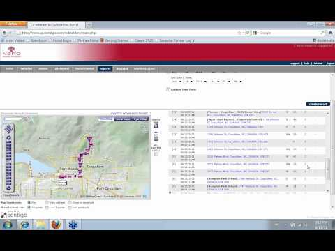GPS Fleet Tracker Route Log Report With Nero Global Tracking