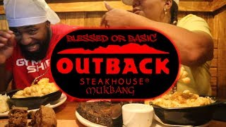 Outback Steakhouse Mukbang with Girlfriend