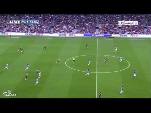 هجمة تيكي تاكا رائعة لبرشلونة ضد ريال سوسيداد