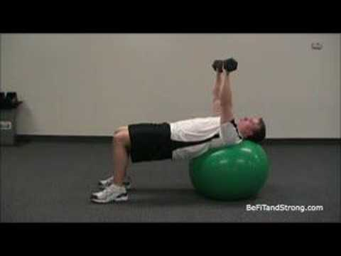 Chest Exercises: Dumbbell Chest Press On The Exercise Ball